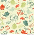 Patterned Paper Birds of a Feather